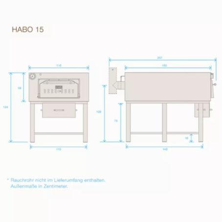 Габаритные размеры Habo15